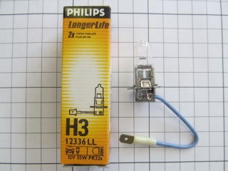 Лампа H3 12V 55W LongLife (Philips)